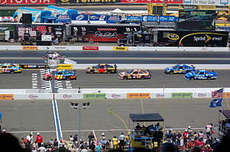 2008 NASCAR Sprint Cup Series - The drivers on a parade lap before the Toyota/Save Mart 350