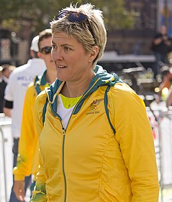 Natalie Cook at the Welcome Home parade in Sydney.jpg