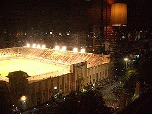 National Stadium Thailand at night.jpg