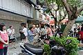 Neighbors of Futai Village Talking on Sanmin Road Sidewalk 20150613.jpg