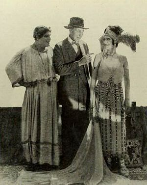 J. Gordon Edwards filmography - Jacques Grétillat, J. Gordon Edwards, and Paulette Duval during the production of Nero (1922)