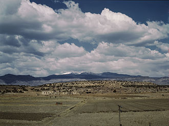 Most Indian reservations, like the Laguna Indian reservation in New Mexico (pictured here in 1943), are in the western United States, often in regions suitable more for ranching than farming. New-mexico-rez.jpg