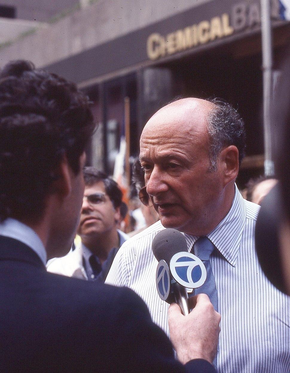 New York mayor Ed Koch
