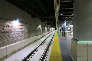 New track at Tower City from Red Line platform.jpg