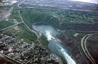Niagara Gorge - Image: Niagara Falls Whirlpool aerial view