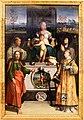 Niccolò dell'abate, madonna in trono col bambino e i ss. francesco, chiara, jacopo e lorenzo, 1540-41 ca. 01.jpg