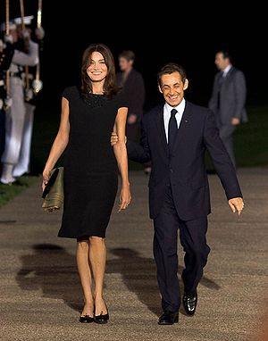 English: President Nicolas Sarkozy of France a...