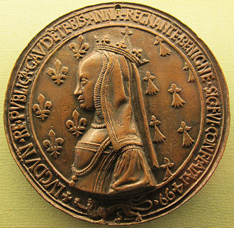 Anne of Brittany - Medal of Queen Anne made in celebration of her stay at Lyon in 1499.