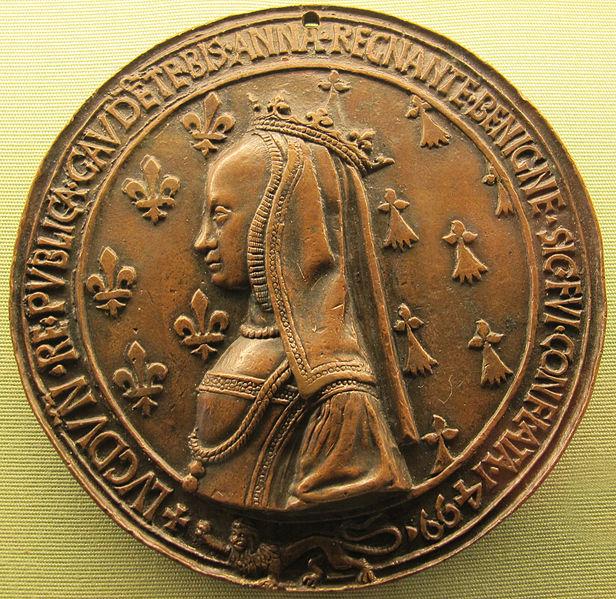 File:Nicolas leclerc, jean de saint-priest (dis) e jean e louis lepère, carlo VIII e anna di bretagna visitano lione 1499.JPG