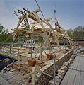 Nieuwe kapconstructie op de hoofdvleugel, gezien naar het noordwesten - Nederhemert-Zuid - 20342386 - RCE.jpg