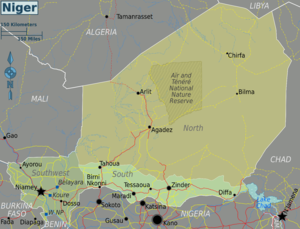 Slavery in Niger - Map of Niger