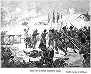 Night battle by Podoli 1866