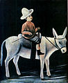 Niko Pirosmani. ''A Little Boy Riding a Donkey''. Oil painting on oilcloth. 80X99 cm. The State Museum of Fine Arts of Georgia.jpg