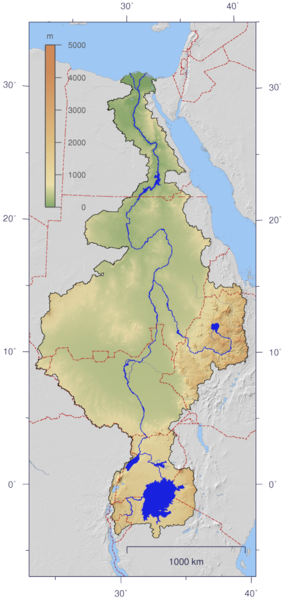 Nile River watershed
