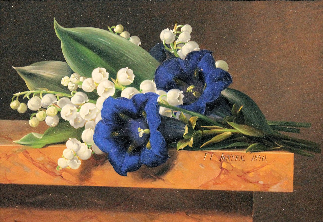 Nivaagaard Museum, Johan Laurentz Jensen, lily of the valley and gentian.JPG