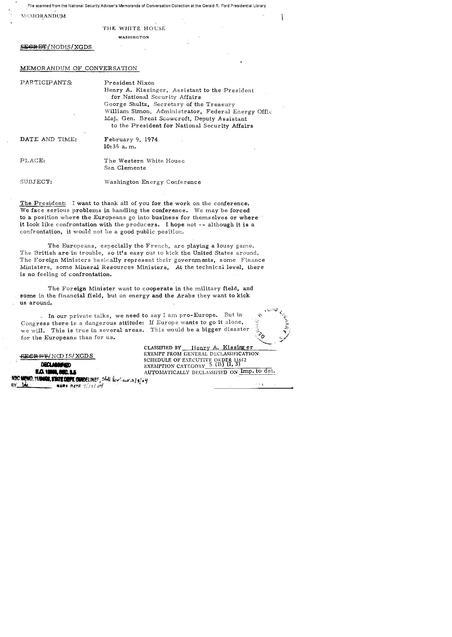 File Nixon Kissinger George Shultz William Simon