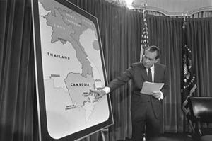 Richard Nixon tells the nation about the bombi...
