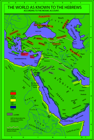 Sons Of Noah Map http://en.wikipedia.org/wiki/Japheth