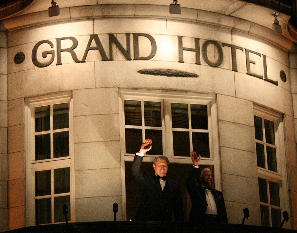 Nobel Peace Prize winners Gore & Pachauri in Grand Hotel, Norway 2