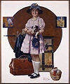 Norman Rockwell - Vacation's Over (Girl Returning from Summer Trip ) - Google Art Project.jpg