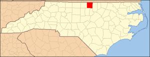 Locator Map of Person County, North Carolina, ...