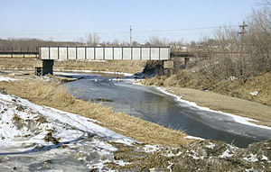 Dyersville, Iowa - The North Fork of the Maquoketa River at Dyersville in 1996