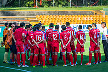 North Korea national football team train for the AFC Asian Cup.jpg
