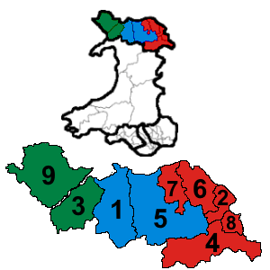 North Wales (National Assembly for Wales electoral region) - Image: North Wales results 2016