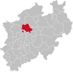 Recklinghausen (district) - Image: North rhine w re grey