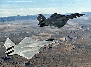 Northrop YF-23 Prototype fighter aircraft for the US Air Force Advanced Tactical Fighter program