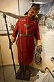 Norwegian watchman reconstructed 19th-century uniform (vekter uniform frakk belte morgenstjerne vekterskilt Vægter lykt) Justismuseet Trondheim Norway 2019 DSC07208.jpg