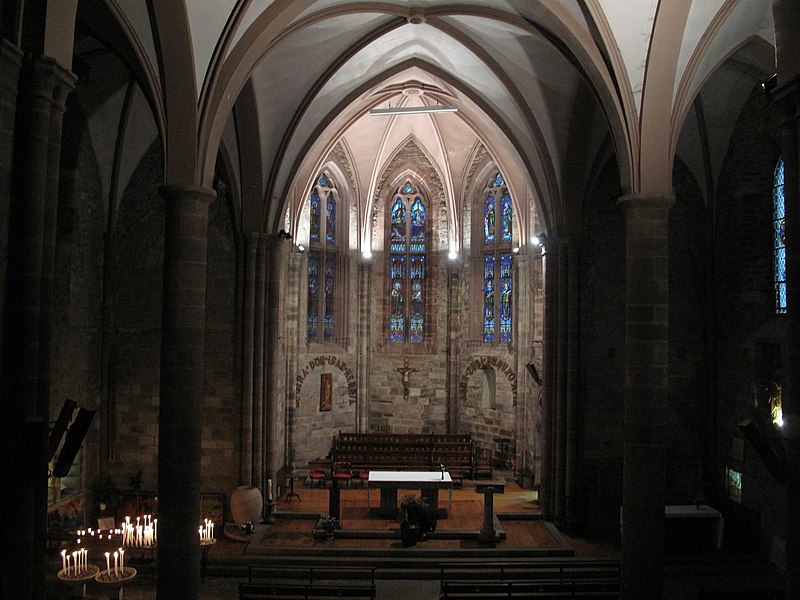 The choir of the church Notre-Dame in Saint-Jean-Pied-de-Port, Pyrénées-Atlantiques, France