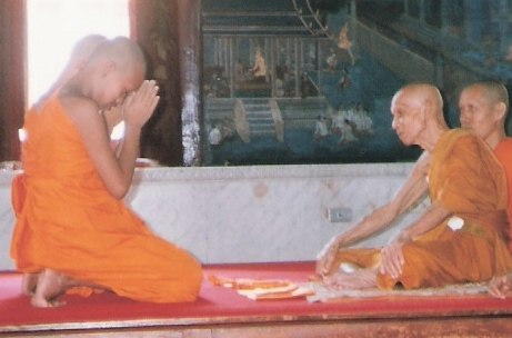 Novitiate Buddhist ordination