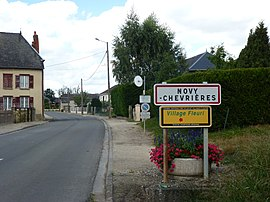 Novy-Chevrières (Ardennes) city limit sign.JPG