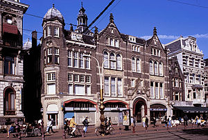 Amsterdam Dungeon - Building at Rokin which is now used by the Amsterdam Dungeon