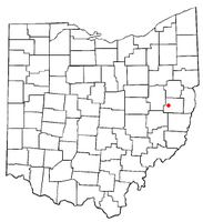 Location of Deersville, Ohio