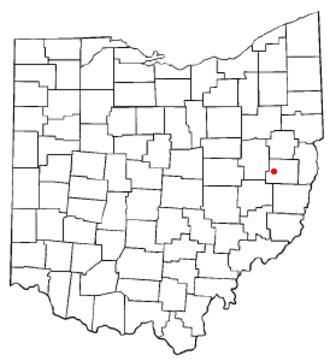 Deersville, Ohio - Image: OH Map doton Deersville