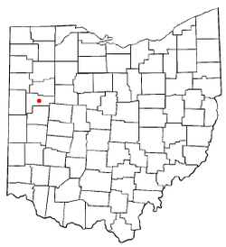 Location of Wapakoneta, Ohio