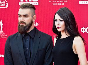 The Hardkiss - Val Bebko and Julia Sanina at the Odessa International Film Festival, 2014