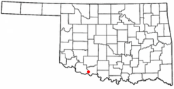 Location of Devol, Oklahoma