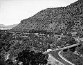 Oak Creek bridge and view of canyon- group of 75 motorhomes in caravan called the Fireballers, preparing to drive through tunnel (5edd2c29cfd34a75aea872b96bdf0757).jpg