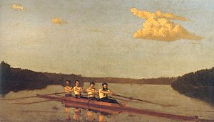 Pennsylvania Barge Club - Image: Oarsmen on the schuylkill thomas eakins