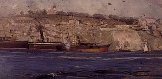 Observatory Park, Sydney - Painting by Arthur Streeton of Observatory Hill in 1896