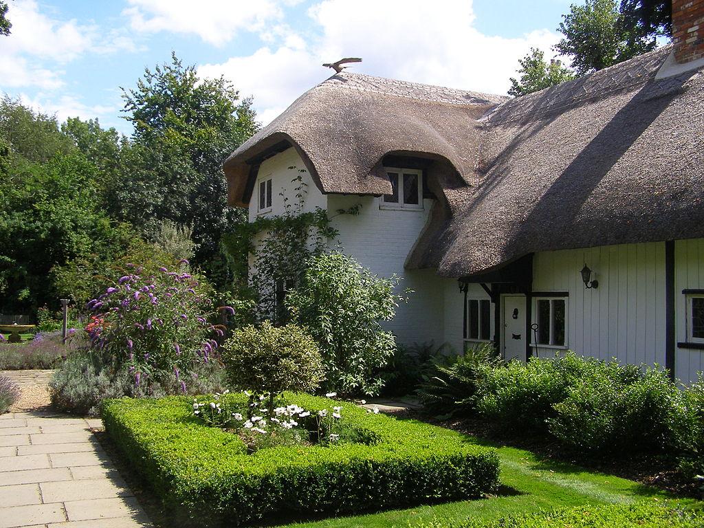 La casa Old Thatch de Enyd Blyton en Bourne End, Buckinghamshire (Inglaterra).
