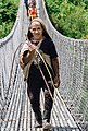 Old man crossing Kadoorie suspension bridge-3041.jpg