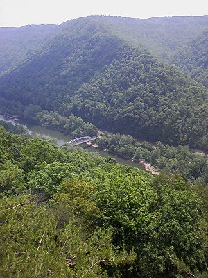 New River Gorge Bridge - Image: Oldnewriverbridge