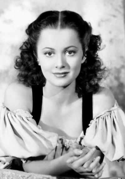 Olivia De Havilland, American actress