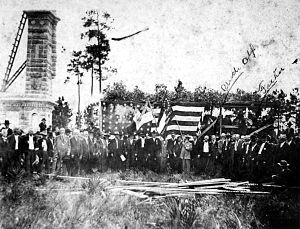 Battle of Olustee - Survivors of the Battle of Olustee at the dedication of the battlefield monument on 23 October 1912.