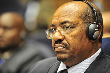 English: Omar Hassan Ahmad al-Bashir, the pres...