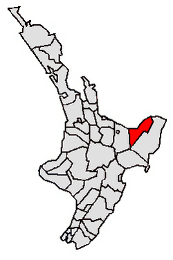Location of Opotiki